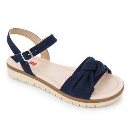 Sandales à plateforme brides noeud suédé semelle crantée Femme MUSTANG marque pas cher prix dégriffés destockage