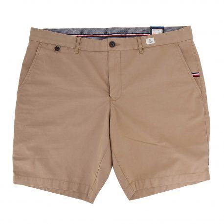 Bermuda court coton léger poches passepoilées Homme TOMMY HILFIGER marque pas cher prix dégriffés destockage