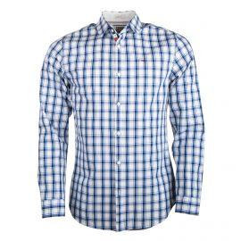 Chemise manches longues coton carreaux slim fit Homme TOMMY HILFIGER marque pas cher prix dégriffés destockage