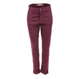 Pantalon toile coton strech poche passepoilée Femme LA FEE MARABOUTEE marque pas cher prix dégriffés destockage