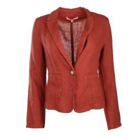 Veste lin légère rayée bicolore poches Femme LA FEE MARABOUTEE marque pas cher prix dégriffés destockage
