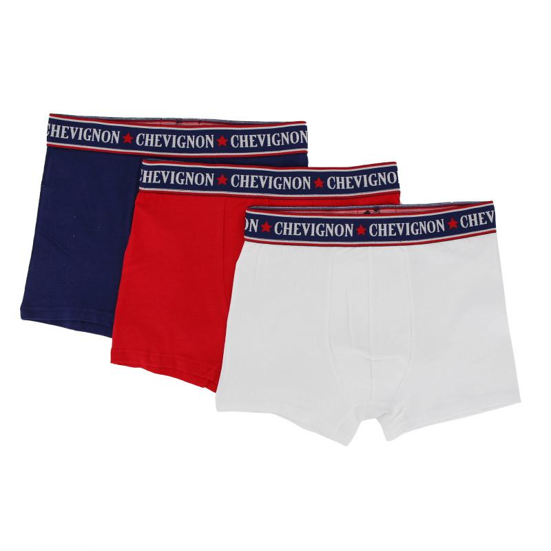 Lot de 3 boxers Boyan coton stretch doux Homme CHEVIGNON à prix
