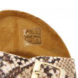 Mules plates python boucle Femme WHY LAND marque pas cher prix dégriffés destockage