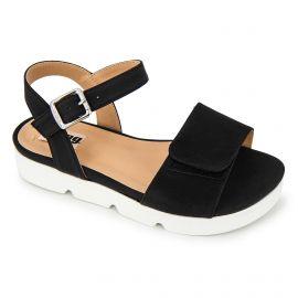 Sandales plateforme suédé semelle crantée boucle Femme MUSTANG marque pas cher prix dégriffés destockage