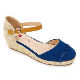 Sandales plates compensées semelle corde boucle Femme MUSTANG marque pas cher prix dégriffés destockage