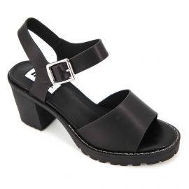 Sandales à talons semelle crantée boucle Femme MUSTANG marque pas cher prix dégriffés destockage