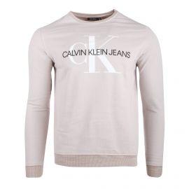 Sweat manches longues coton doux floqué CK Jeans Homme CALVIN KLEIN marque pas cher prix dégriffés destockage