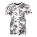 Tee shirt manches courtes coton doux imprimé palmier tropical Homme JACK AND JONES