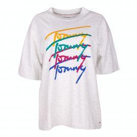 Tee shirt mc Femme TOMMY HILFIGER marque pas cher prix dégriffés destockage
