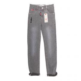 Jean coton doux stretch slim brodé East London zip Enfant LEE COOPER marque pas cher prix dégriffés destockage