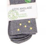 Chaussettes Dominica Or coton bambou Femme COTE ANGLAISE marque pas cher prix dégriffés destockage
