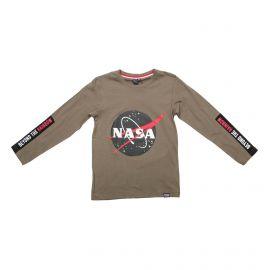 Tee shirt ml gns2016k t4 -14 ans Enfant NASA marque pas cher prix dégriffés destockage