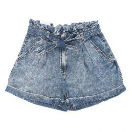 Short en jean ceinturé à la taille Femme VILA marque pas cher prix dégriffés destockage
