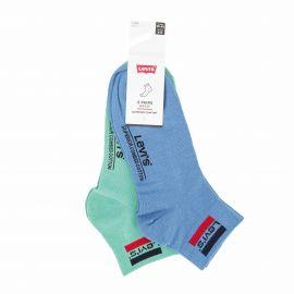 Lot de 2 paires de chaussettes riverside blue/green t39 a 46 Homme LEVI'S marque pas cher prix dégriffés destockage