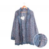 Gilet long manches longues tweed coton Femme CARE OF YOU