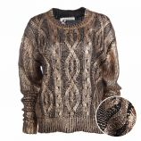 Pull manches longues coton doux torsades Femme CARE OF YOU