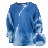 Pull manches longues raglan oversize laine tie dye Femme CARE OF YOU