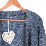 Gilet long manches longues mohair laine chiné tweed Femme CARE OF YOU marque pas cher prix dégriffés destockage