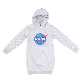 Robe manches longues capuche coton doux sweat jersey étoile Fille NASA marque pas cher prix dégriffés destockage