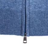 Gilet manches longues zip cachemire laine Homme CASHMERE COMPANY marque pas cher prix dégriffés destockage