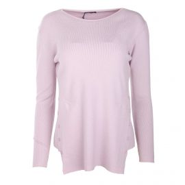Pull manches longues bouton laine cachemire Femme REAL CASHMERE