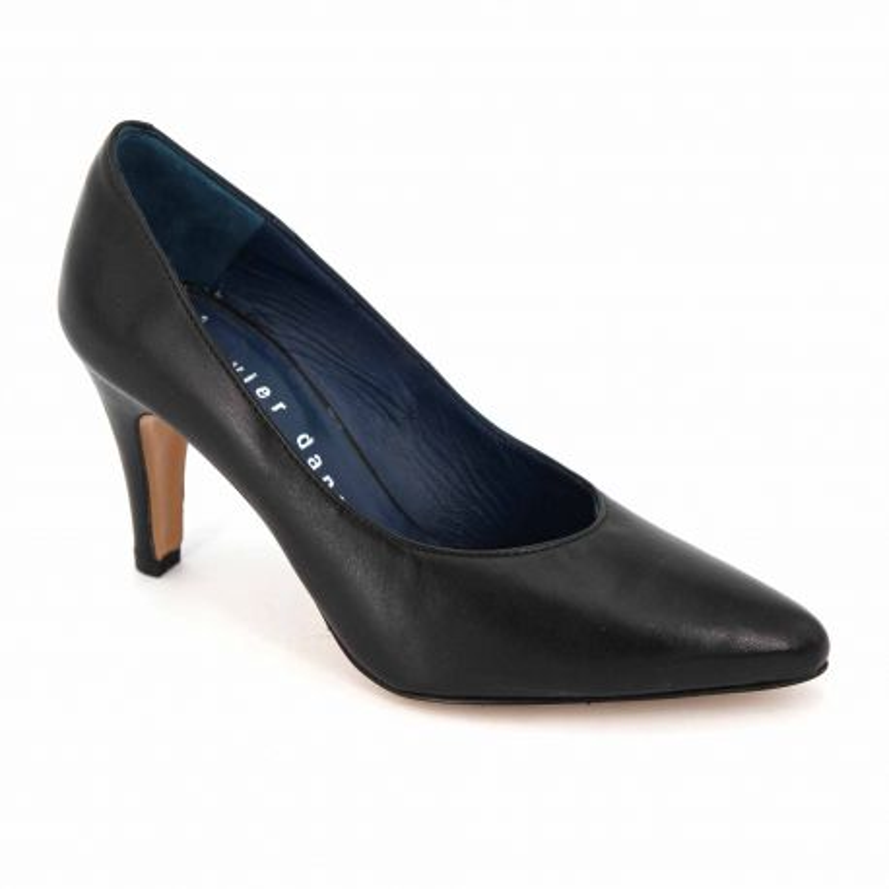 Escarpins cuir azul/noir t35-t39 ripor Femme XAVIER DANAUD marque pas cher prix dégriffés destockage