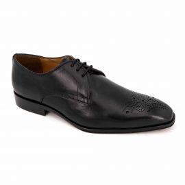 Derbies cuir noir t39-t46 65709 Homme MEN'S VINTAGE marque pas cher prix dégriffés destockage