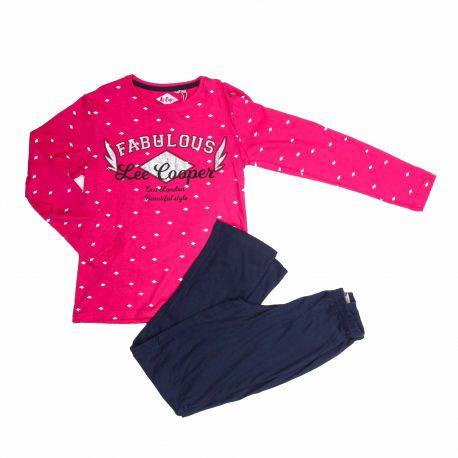 Pyjama long fille 449012 Enfant LEE COOPER marque pas cher prix dégriffés destockage