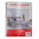 Housse de couette 140x200 taie oreiller unie 65x65 NAF NAF marque pas cher prix dégriffés destockage