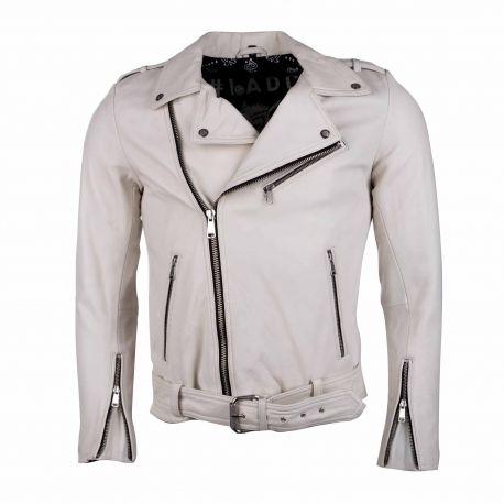 Blouson cuir rocky taching white Homme L.A.D.C. marque pas cher prix dégriffés destockage