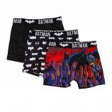 Lot de 3 boxers microfibres noir Enfant DC COMICS