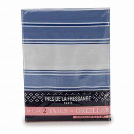 Set de 2 taies d'oreiller 50x70cm ciel INES DE LA FRESSANGE marque pas cher prix dégriffés destockage