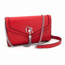 Sac bandoliere halya rouge grs20130861 Femme GEORGES RECH marque pas cher prix dégriffés destockage