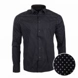 Chemise manches longues fio 1501 white/black Homme TORRENTE