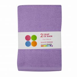 Lot de 2 draps de bain 70x140 IMPERIABASIC