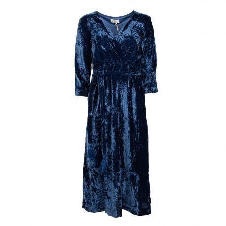 Robe longue ml velours Femme STELLA FOREST marque pas cher prix dégriffés destockage