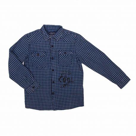 Chemise bleu manches longues 925-3002aa 2-7ans Garçon LOSAN marque pas cher prix dégriffés destockage