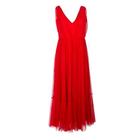 Robe longue sm rouge slf suzy 16078771 Femme SELECTED marque pas cher prix dégriffés destockage