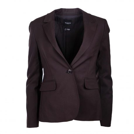 Veste blazer noir slf siri 16071694 Femme SELECTED marque pas cher prix dégriffés destockage