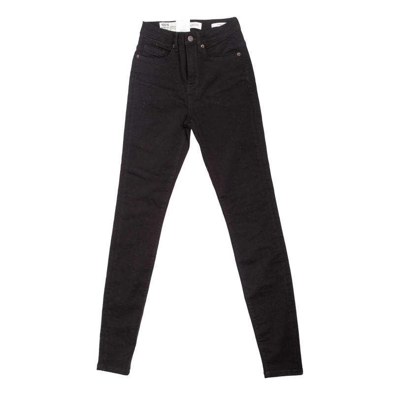 Jeans noir slf maggie 16064390 Femme SELECTED marque pas cher prix dégriffés destockage