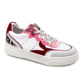 Baskets blanche/rose/rouge berlin5035 Femme SEMERDJIAN marque pas cher prix dégriffés destockage
