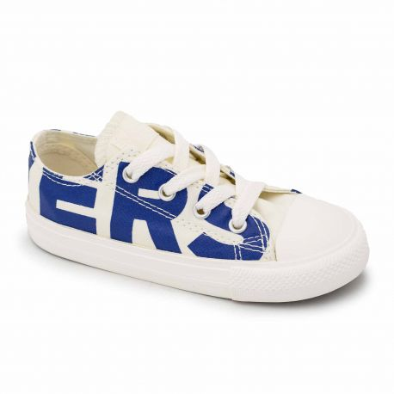 Basket basse toile blanc/bleu 759535c Enfant CONVERSE marque pas cher prix dégriffés destockage