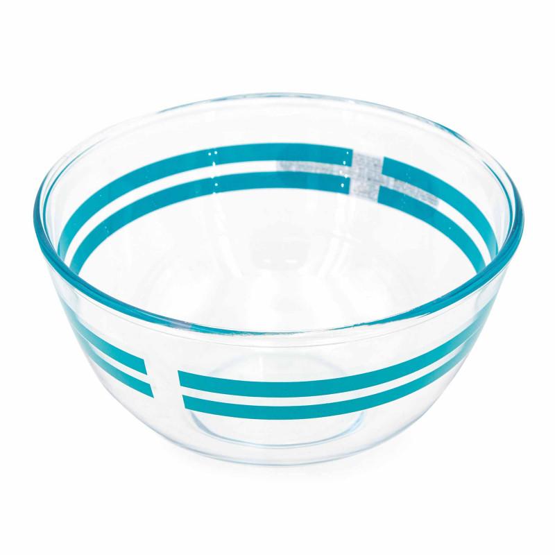 Jatte ronde diametre 21 cm 2 litres bleu Mixte PYREX