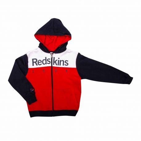 Sweat zip manches longues capuche 8-16ans Enfant REDSKINS marque pas cher prix dégriffés destockage