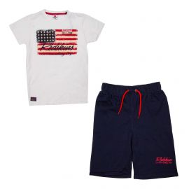 Ensemble tee-shirt mc+bermuda set301 de 8 a 16 ans Enfant REDSKINS