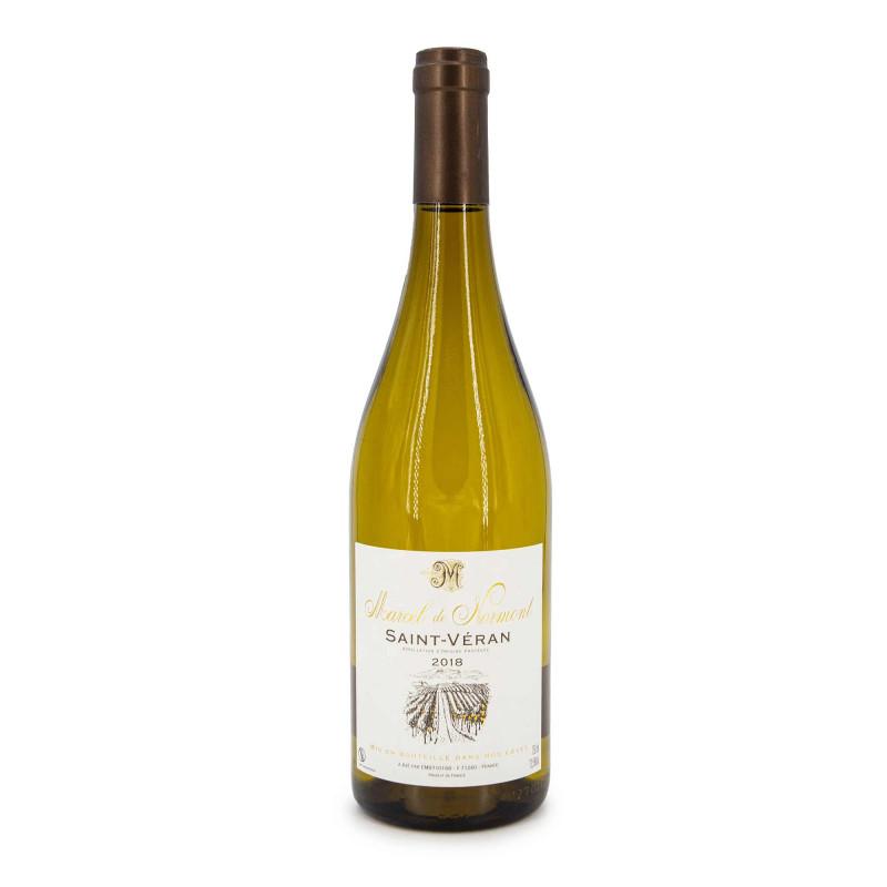 """Vin blanc AOP SAINT VERAN 2018 """"MARCEL DE NORMONT"""" 12,5% 75CL"""