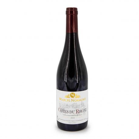 """Vin rouge AOC COTES DU RHONE ROUGE 2018 """"MARCEL DE NORMONT"""" 14% 75CL"""