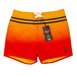 Maillot de bain Boardshort allover carbon red/orange cooll 5529 Homme WATTS marque pas cher prix dégriffés destockage