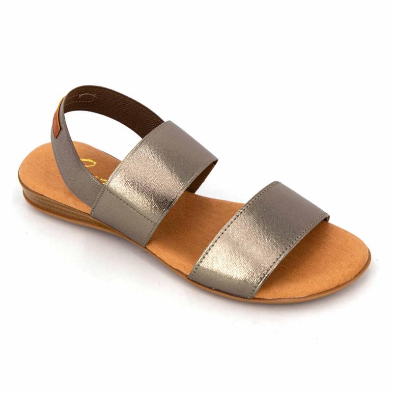 Sandales elastico negro 631 Femme PINAZ