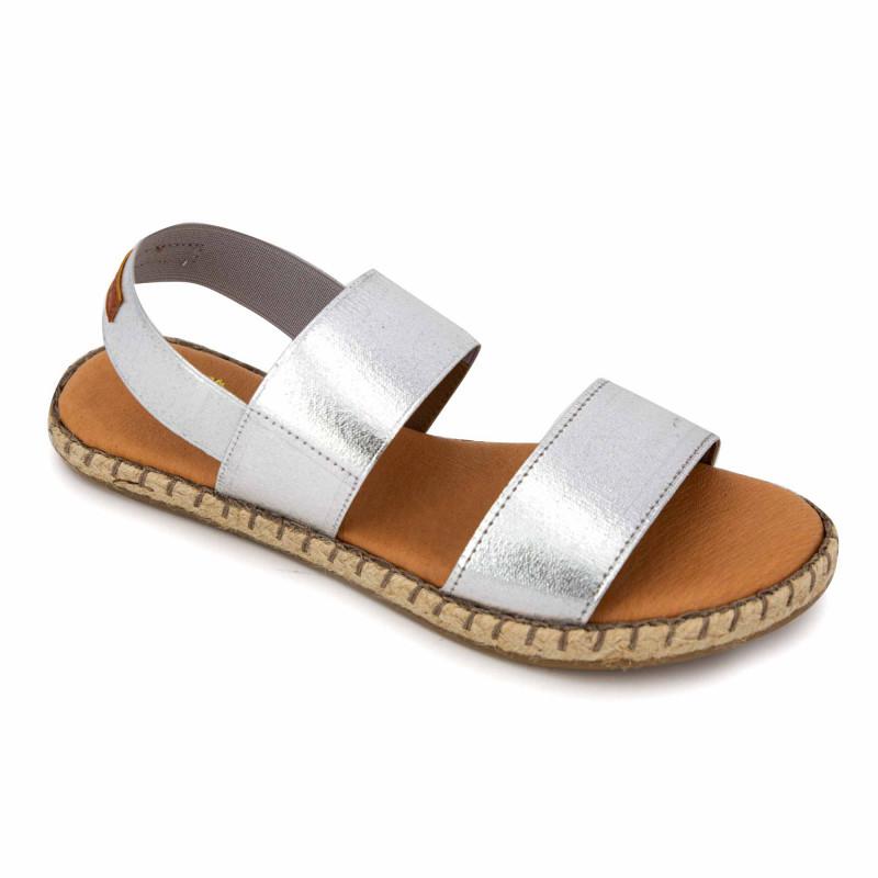 Sandales elastico plata 2031 Femme PINAZ